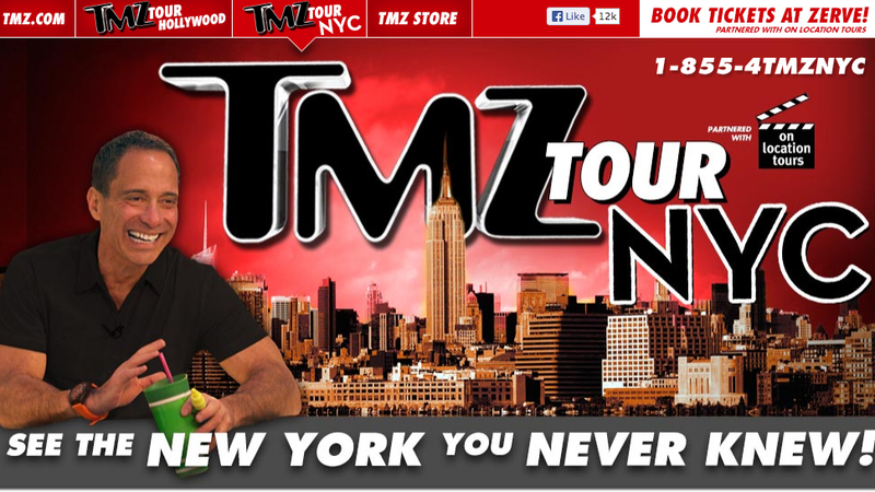 Take a ride on tmz 39 s tabloid tourism bus and maybe hate for Tmz tour new york city
