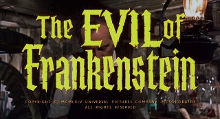 Illustration for article titled Svengoolie: The Evil of Frankenstein (1964)
