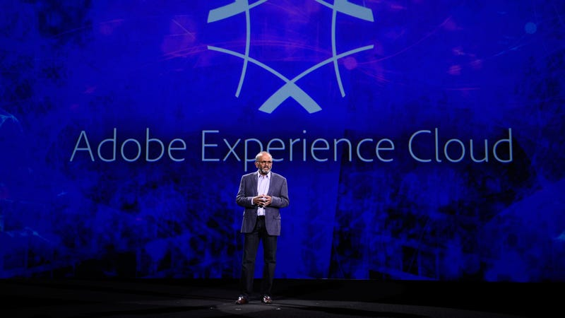 Adobe CEO  Shantanu Narayen at the Adobe Summit 2017 in Las Vegas, 2017. Photo: AP