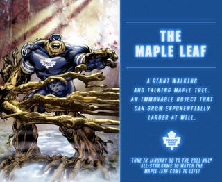 Illustration for article titled Checking Back In With Those Ridiculous NHL Superheroes