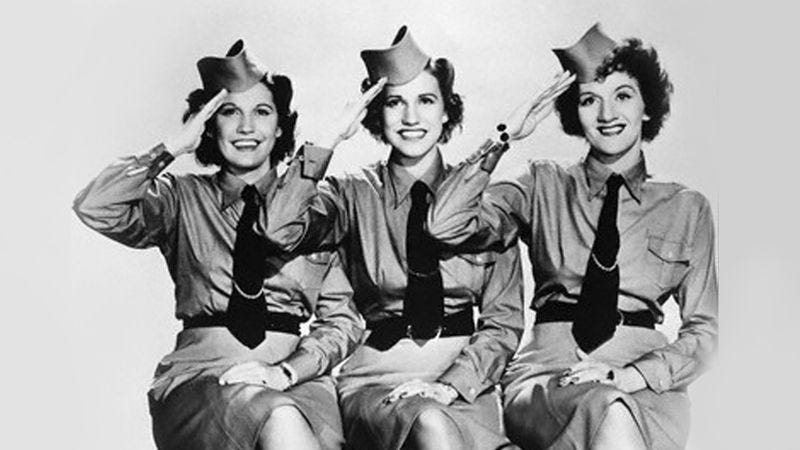Illustration for article titled R.I.P. Patty Andrews, last remaining member of The Andrews Sisters
