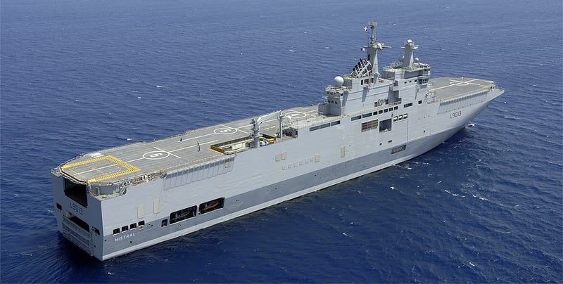 Illustration for article titled Why Is Egypt Buying Two Orphaned Mistral Class Aircraft Carriers From France?