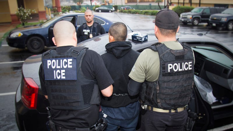 An ICE deportation sweep in Los Angeles, 2017.