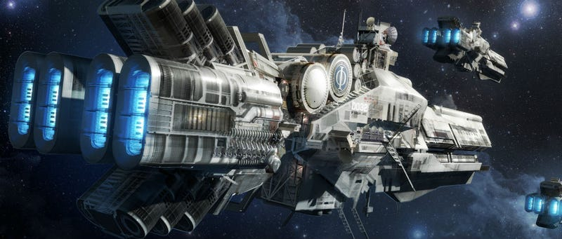 Illustration for article titled Ender's Game concept art is like the space combat of your dreams