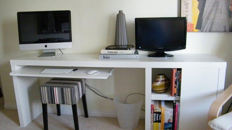 The Ikea Hacked Slim Storage Workspace