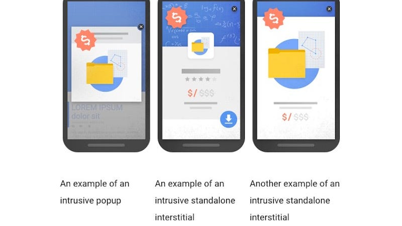 Illustration for article titled Google Wants to Put an End to Pop-Over Ads You Have to Tap to Dismiss