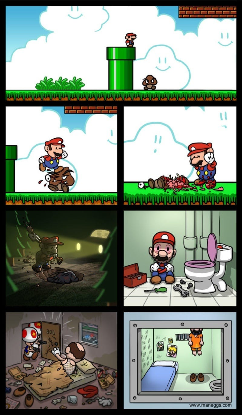 Illustration for article titled If Mario Actually Had A Conscience