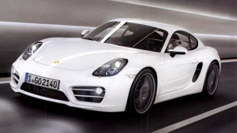 Illustration for article titled This Is The First Picture Of The Brand New, Super Hot Porsche Cayman