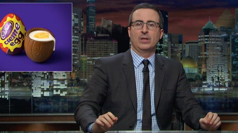 Illustration for article titled Wake up, sheeple: John Oliver takes down Cadbury Creme Eggs