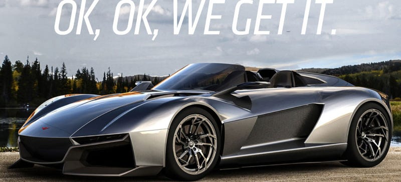Illustration for article titled Okay, Rezvani, Okay, We Get It Already, You Want Us To Write About You