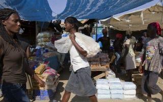 A Haitian market (AFP/Getty Images)