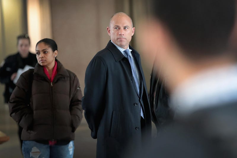 Attorney Michael Avenatti arrives for a bond hearing for R&B singer R. Kelly at the Leighton Criminal Court Building on February 23, 2019 in Chicago, Illinois. Kelly, who is facing charges on ten counts of aggravated criminal sexual abuse, is being held on $1 million bond. Avenatti represents one of Kelly's alleged victims.