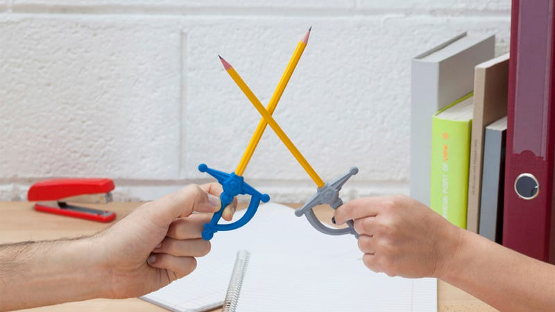 Illustration for article titled These Erasers Turn Pens and Pencils Into Swords