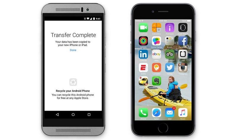 Illustration for article titled Apple hace ahora más fácil pasarse de Android a iOS con estaapp