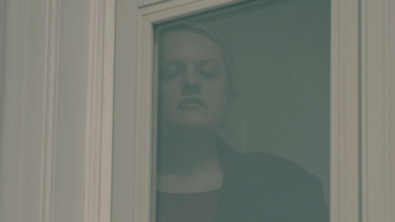 June (Elisabeth Moss) looks over a serious confrontation.