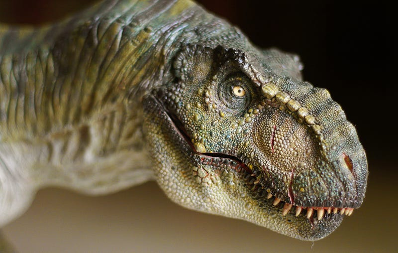 Maqueta del T-rex diseñado para Jurassic Park. Foto: Jurassic Wiki.