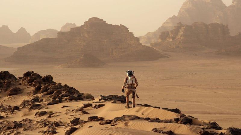 Matt Damon goes for a stroll in The Martian.