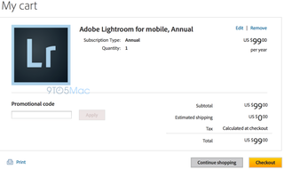Illustration for article titled Lightroom for Mobile Pops Up In Adobe Online Store, Is it Coming Soon?