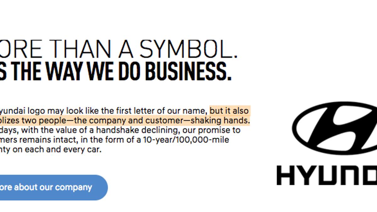 I Had No Idea The Hyundai Logo Was Based On Two Guys Shaking Hands