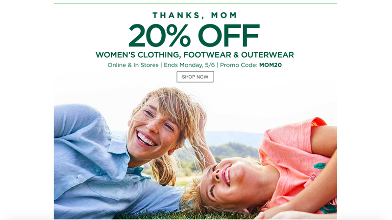 20% Off Women's Clothing, Footwear, and Outerwear | L.L.Bean | Promo code MOM20