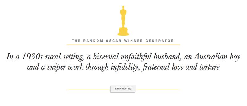Illustration for article titled Generálj magadnak Oscar-nyertes filmet!