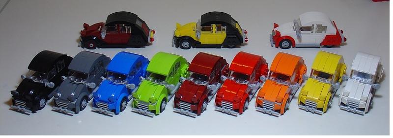 Illustration for article titled Citroen 2CV in Lego