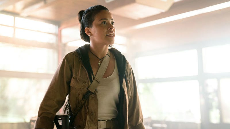 Gina Rodriguez (seen here in Annihilation) is going to play Carmen Sandiego in a live-action Netflix movie.