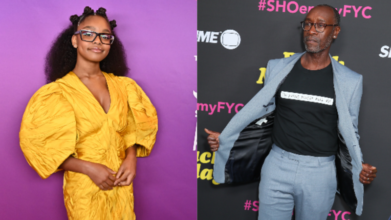 "Marsai Martin, left. attends the 11th Annual Shorty Awards on May 5, 2019, in New York City; Don Cheadle attends FYC Red Carpet Event For Showtimes' ""Black Monday"" on May 14, 2019, in North Hollywood, Calif."