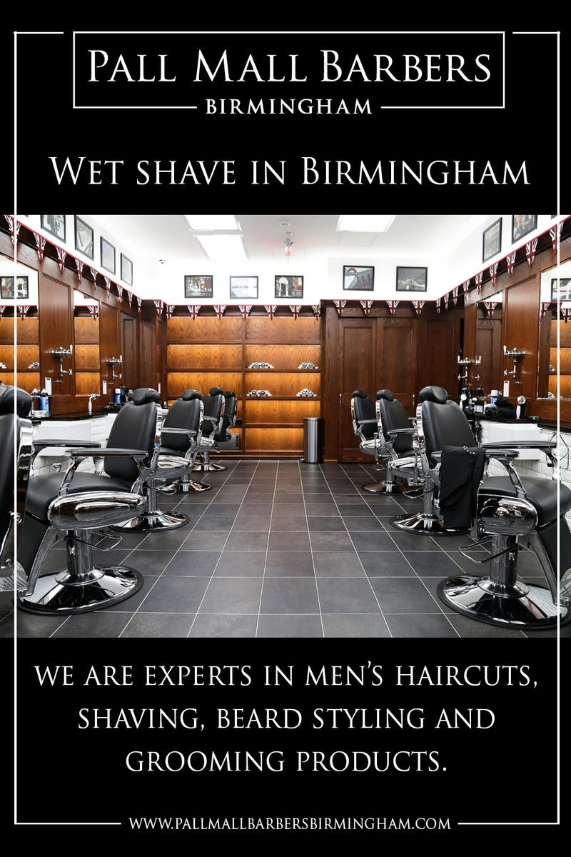 Illustration for article titled Wet Shave in Birmingham | Call 01217941693 | pallmallbarbersbirmingham.com