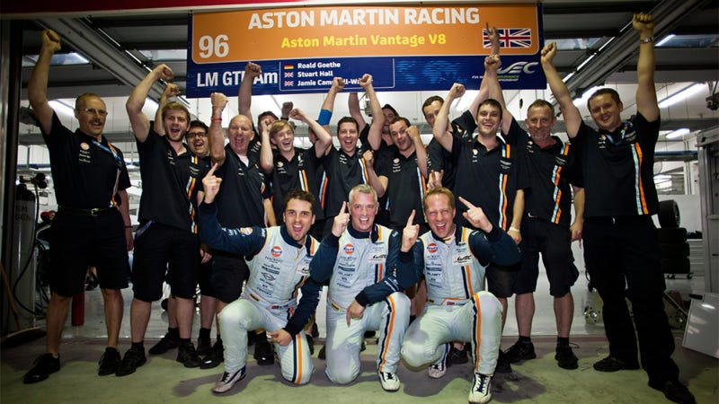 Illustration for article titled Aston Martin's Campbell-Walter And Hall Become World Champions In Bahrain