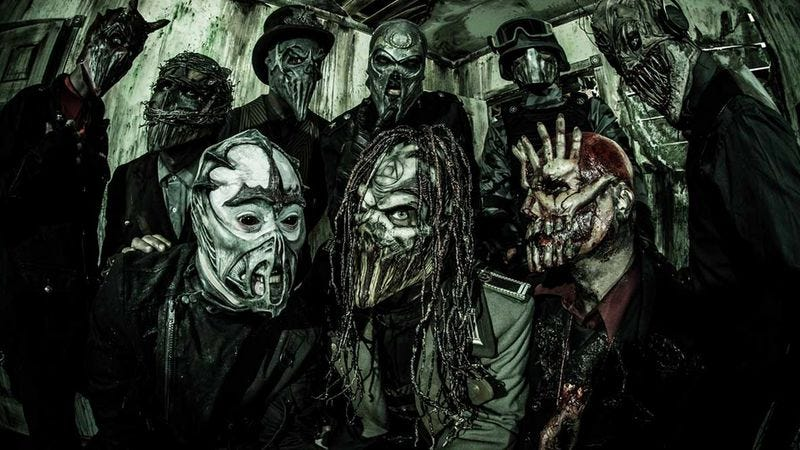 Illustration for article titled Mushroomhead, the band named after a dick, defends the Confederate flag