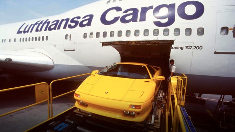 Illustration for article titled How Lufthansa gets the world's most exotic cars airborne