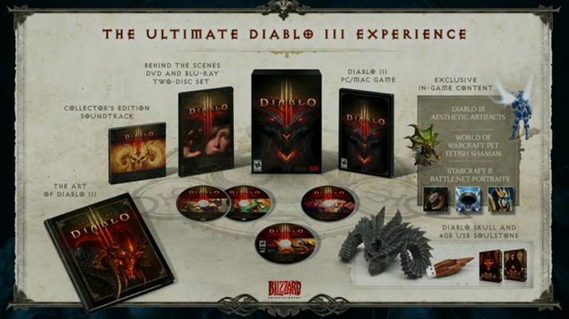 Illustration for article titled The Ultimate Edition of Diablo III Is Stuffed, Probably Expensive