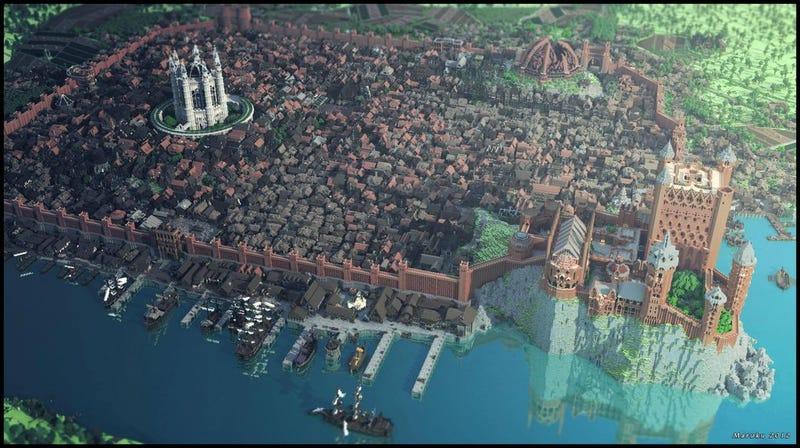 Illustration for article titled Una réplica exacta de King's Landing (Juego de Tronos) en Minecraft