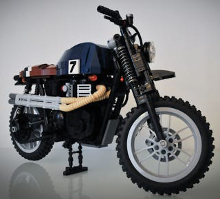 Illustration for article titled We need more like this Lego Triumph Scrambler