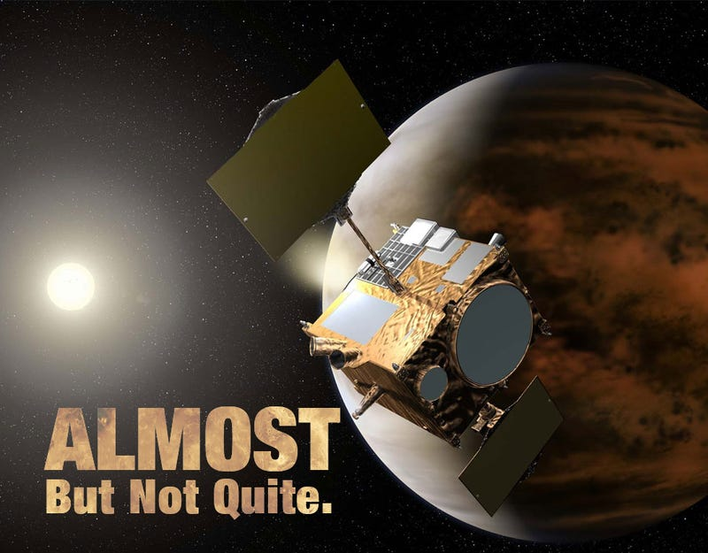 Illustration for article titled Japan Nearly Puts A Satellite In Venus' Orbit