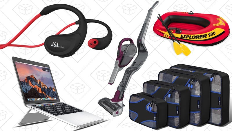 Illustration for article titled Today's Best Deals: Cordless Vacuums, Packing Cubes, $11 Bluetooth Headphones, and More