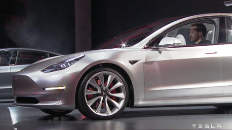 The Tesla Model 3 Prototype Looks Pretty Good In The Real World