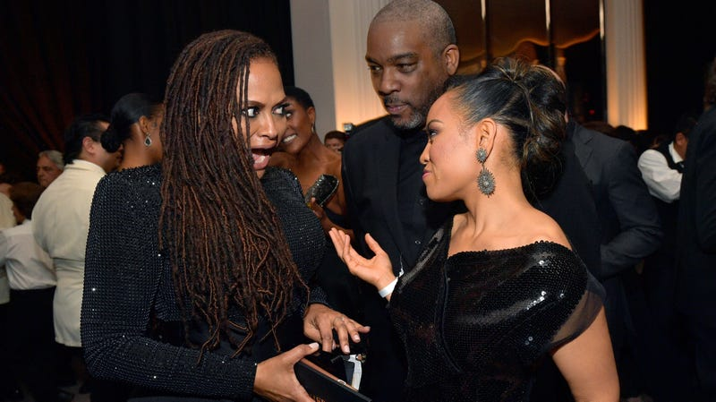 Director Ava DuVernay (L) speaks with Dawn-Lyen Gardner at the 2018 InStyle and Warner Bros. 75th Annual Golden Globe Awards Post-Party at The Beverly Hilton Hotel on January 7, 2018 in Beverly Hills, California.