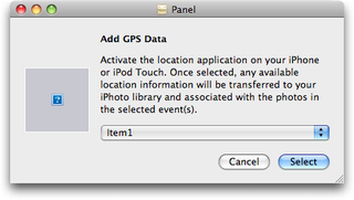 Illustration for article titled iPhoto May Use Future iPhone GPS Functionality To Geotag With Any Camera
