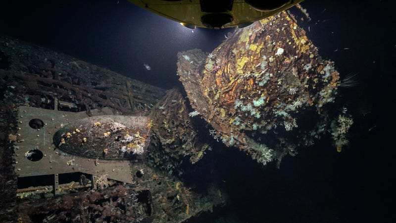 U-boat U-581 was found covered in coral, and at a depth of nearly 3,000 feet. (Image: Rebikoff-Niggeler Foundation/Evonik)