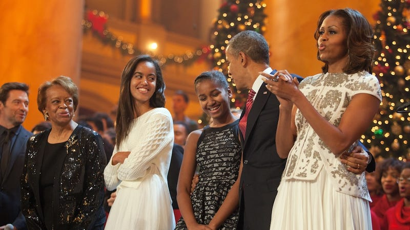 Illustration for article titled Sasha And Malia Obama Are OMG So Embarrassed By Their Dorky Dad