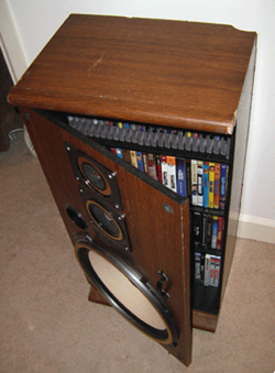Transform Defunct Speakers Into A Media Cabinet