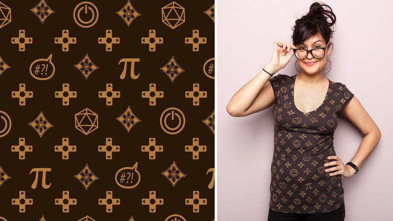 Illustration for article titled Chic Louis Vuitton For Geeks Tee
