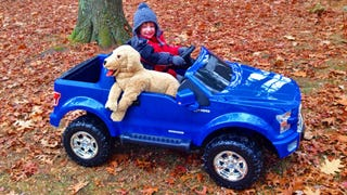 Illustration for article titled 2015 Ford F-150 Power Wheels: The Four-Year-Old Kid Review