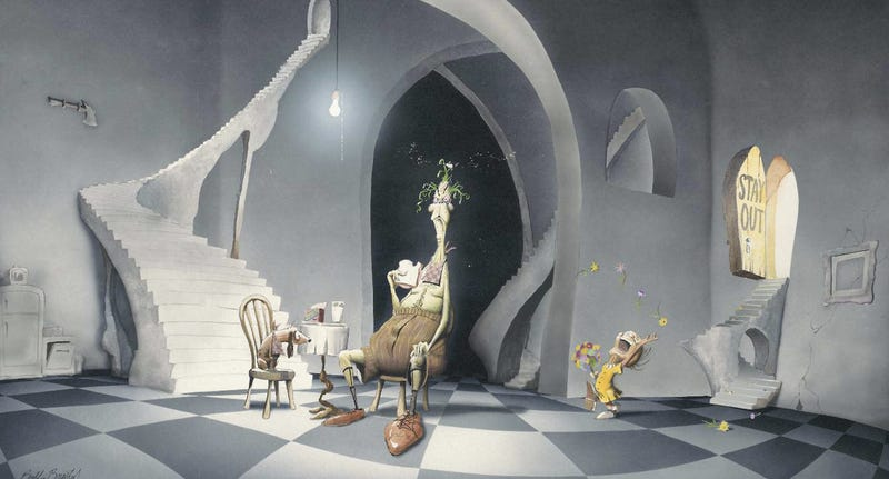 Illustration for article titled Berkeley Breathed's concept art for a Grinch movie with Jack Nicholson