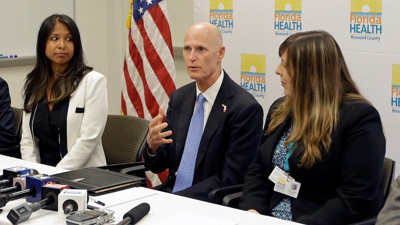 Florida Governor Rick Scott during a July 26th press conference. (Image: AP)