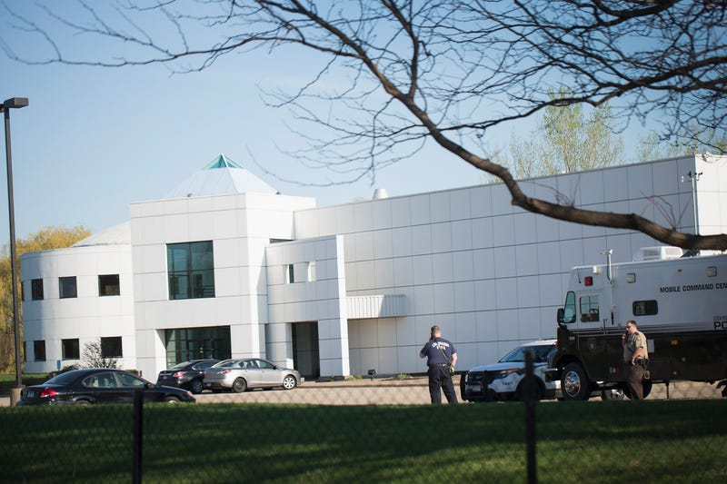 A view of Paisley Park, the home and studio of Prince, in the Minneapolis suburb of Chanhassen, Minn., on April 22, 2016, a day after the musician's death. Scott Olson/Getty Images