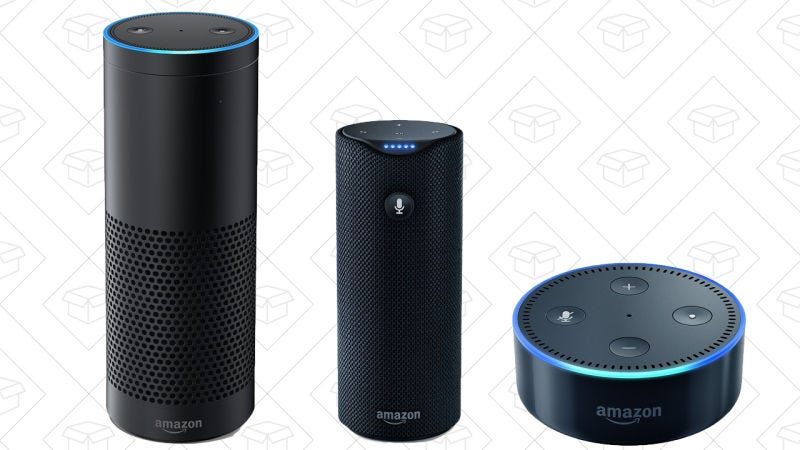 Amazon Echo, $90 | Amazon Tap, $80 | Echo Dot, $35