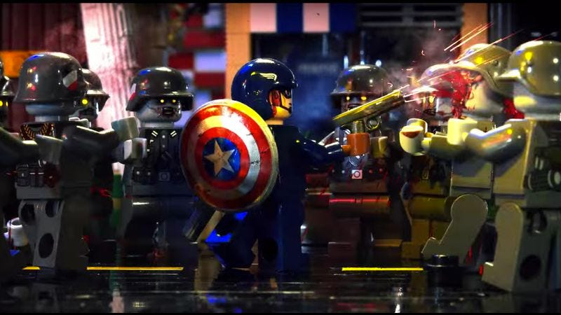 Illustration for article titled Captain America battles Nazi zombies in impressive Lego stop motion